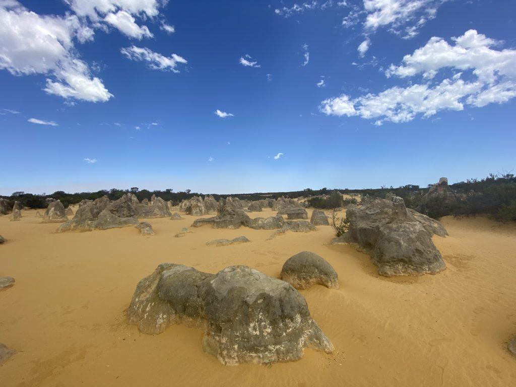 オーストラリアのパースにある黄色い砂漠ピナクルズの写真