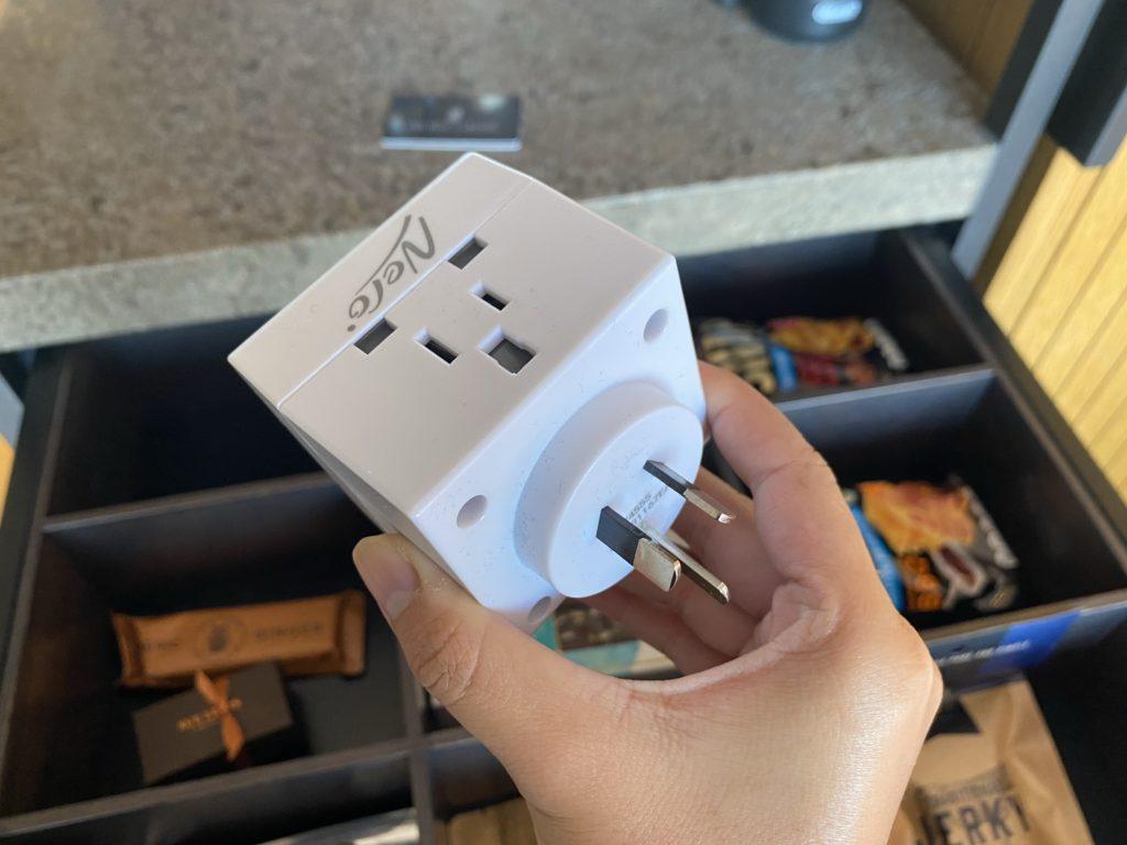 高級ホテルのザリッツカールトン パースに用意されている変圧器