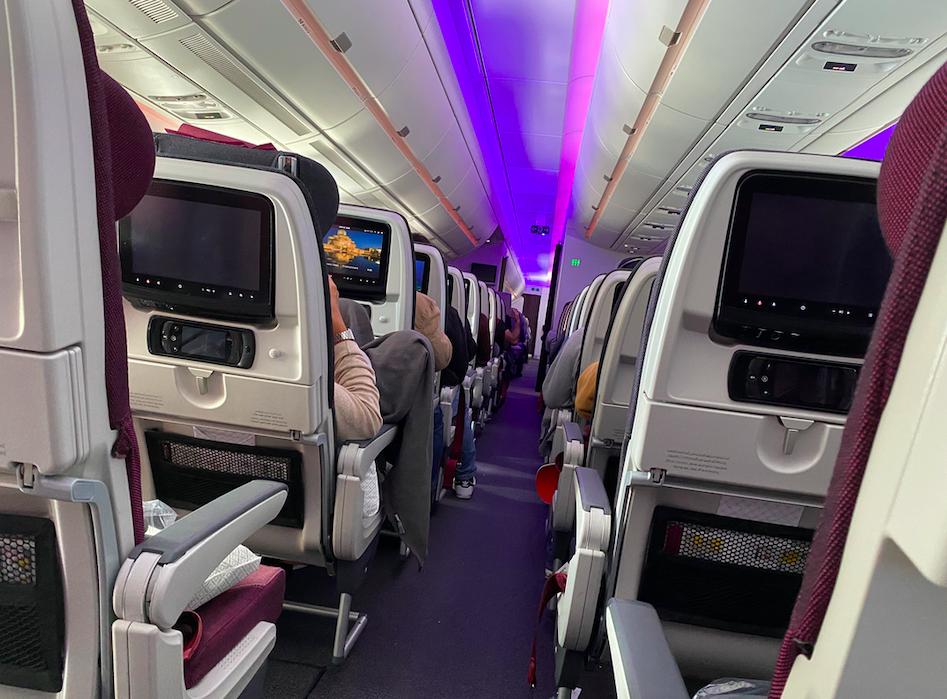 カタール航空の機内の様子