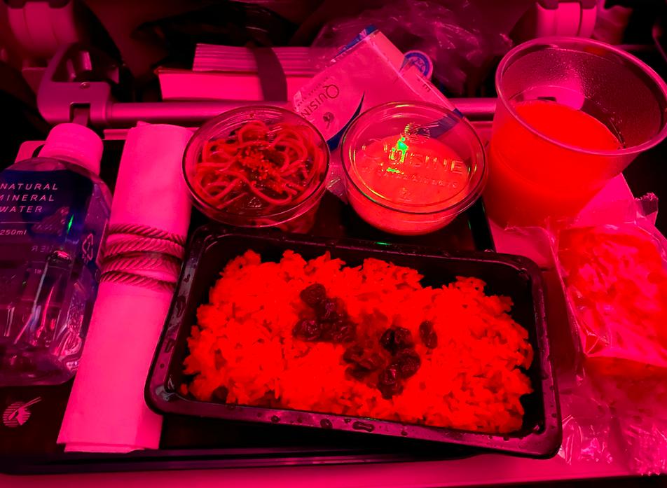 カタール航空の機内食(夕食)