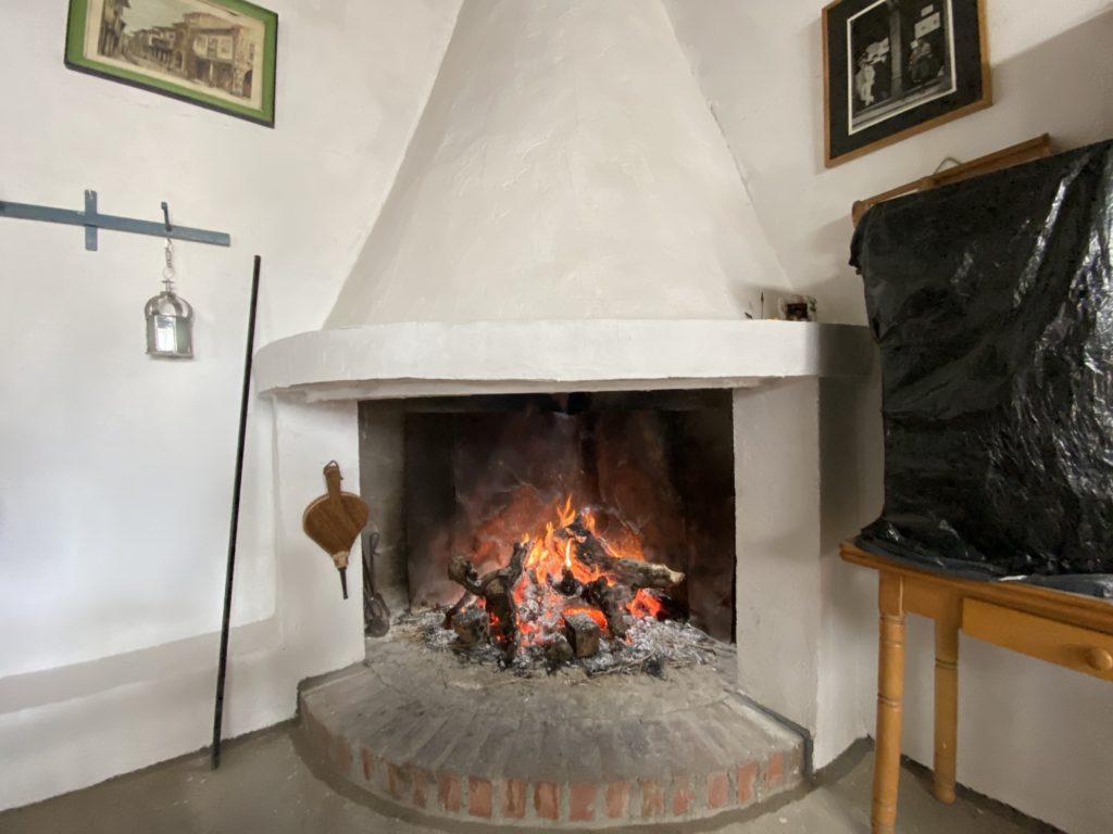 オーペアで泊まっている家の暖炉