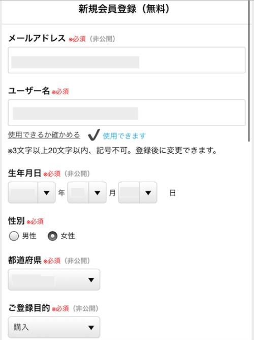 ココナラ電話占いの登録内容